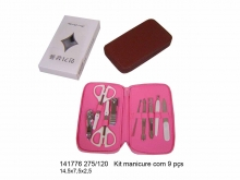 Kit Manicure com 9 Peças