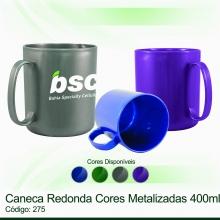 Caneca Redonda Metalizada