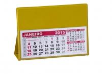 Calendário de Mesa Amarelo