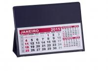 Calendário de Mesa Azul