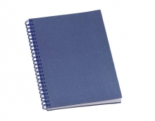 Caderno de Negocios Metalizado Azul