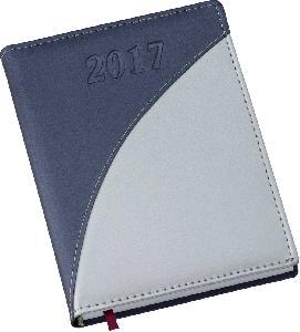 Agenda Diária Capa Metalizada Azul com Prata
