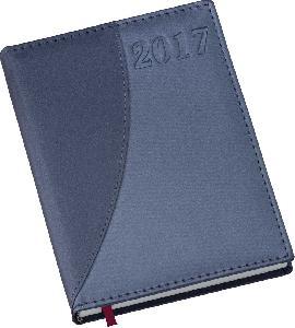 Agenda Diária Capa Metalizada Azul com Azul
