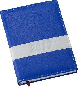 Agenda Diária Capa Horizontal Azul