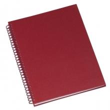Caderno de Negocios Grande Vermelho